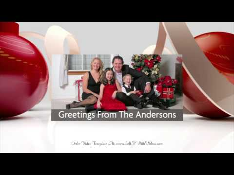 STUNNING Photo Holiday Greetings For Websites, Facebook, YouTube & Emails