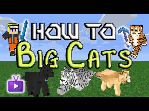 Minecraft How To: Mo' Creatures - Taming Big Cats