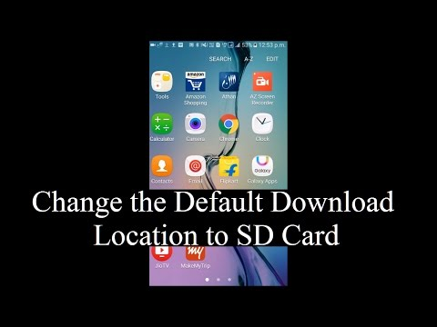 How to change the default download location to external SD card in Android devices (Without Root)