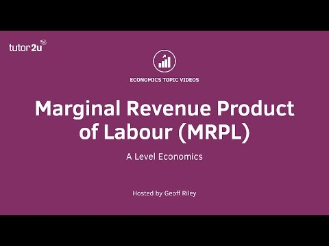 Marginal Revenue Product of Labour (MRPL)