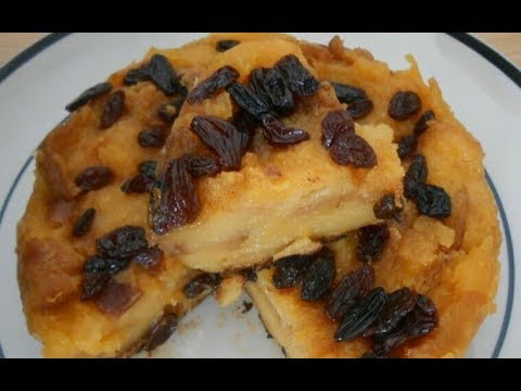 No Oven Best Eggless Bread Pudding With Custard And Raisins