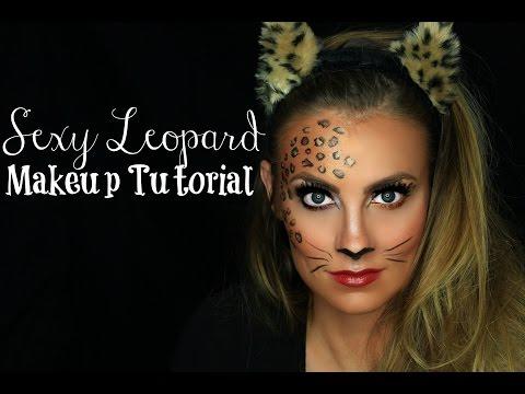 Sexy Leopard / Cat Halloween Makeup Tutorial | Angela Lanter