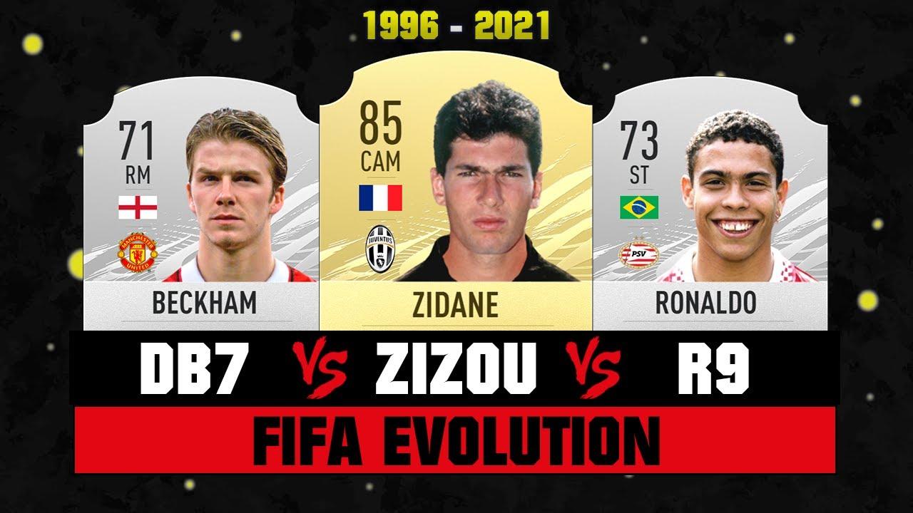 Zidane VS Beckham VS Ronaldo FIFA EVOLUTION! 😱🔥 FIFA 96 - FIFA 21