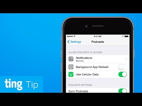 Automatically download podcasts over Wi-Fi on iOS | Ting Tip