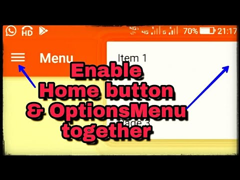 Add OptionsMenu and home button together