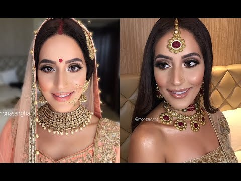 INDIAN BRIDAL MAKEUP FOR BEACH WEDDING | MEXICO | keepingupwithmona