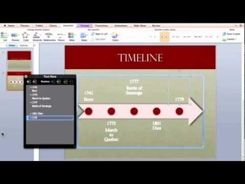 Creating a Timeline in PowerPoint