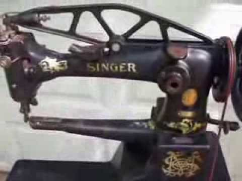 1928 Singer 29K51 Industrial Leather Cobbler's Sewing Machine with Treadle Stand (sold)