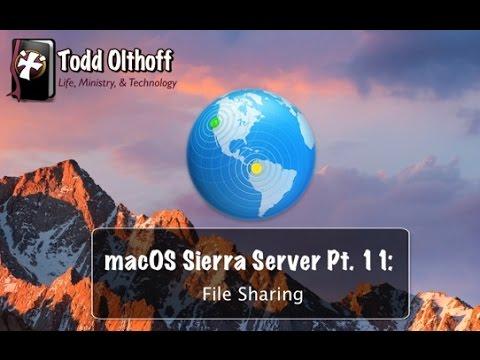 macOS Sierra Server Part 11: File Sharing