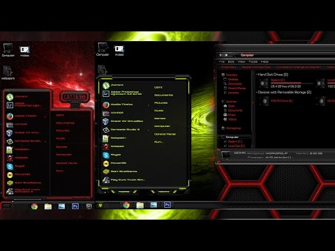 Pack of 3 custom themes for Windows 7