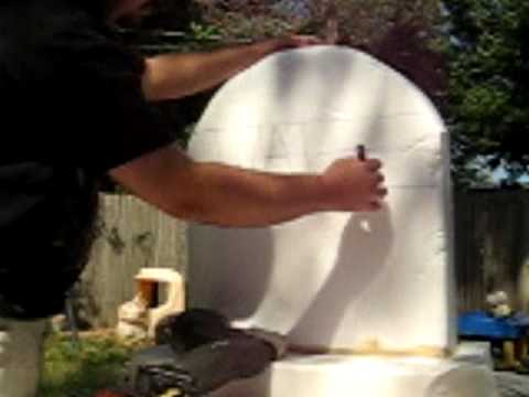 Video Tutorial: Styrofoam Tombstone (part 1)