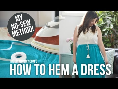 How to Hem a Dress or Skirt // NO sewing required!