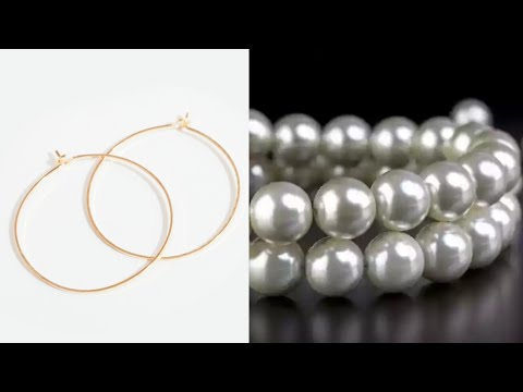 How To Make Beautiful Hoop Pearl Earrings At Home | DIY | Hoop Earrings| Jewelry Making|uppunutihome