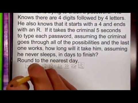 Fundamental counting principle word problem