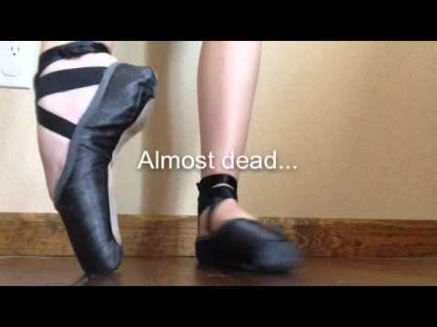 Dead and alive pointe shoes