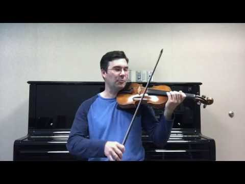 Practice violin speed and accuracy by grouping notes