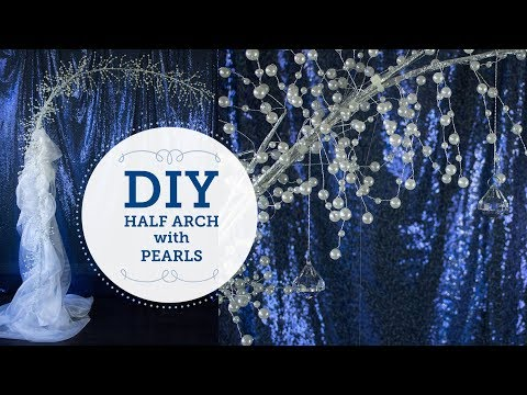 How To: Half Arch with Pearls | DIY Wedding Altar | BalsaCircle.com