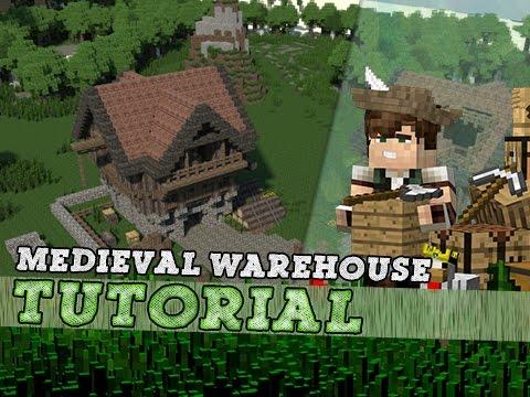 Minecraft Tutorial: Medieval Storage Warehouse!