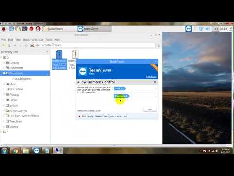 Installing Teamviewer Host on Raspberry Pi