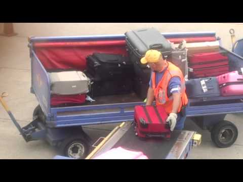 Southwest airlines!!! Never check your luggage in