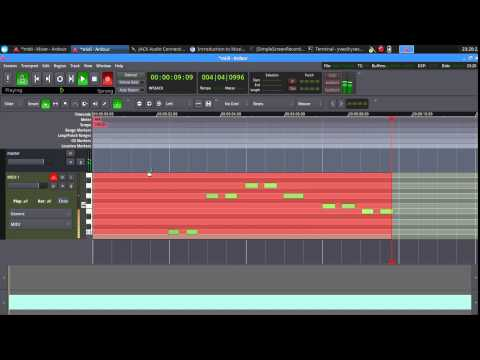 How to record a midi track in ardour