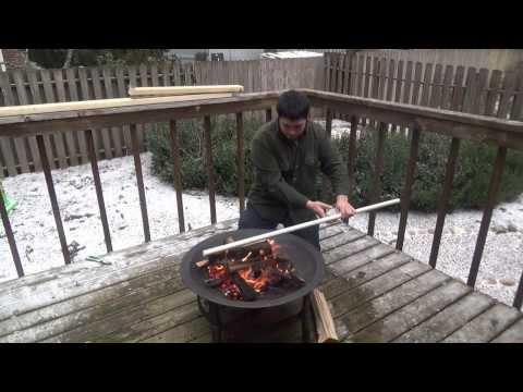 Building a 30-40 Pound PVC Bow Over a Fire Part 1 - The Snow Bow!
