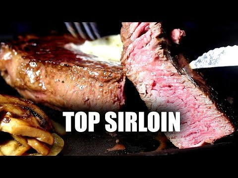 Top Sirloin & Mushrooms On The Blackstone Griddle