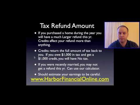 How Much Will My Tax Refund be in 2012, 2013?