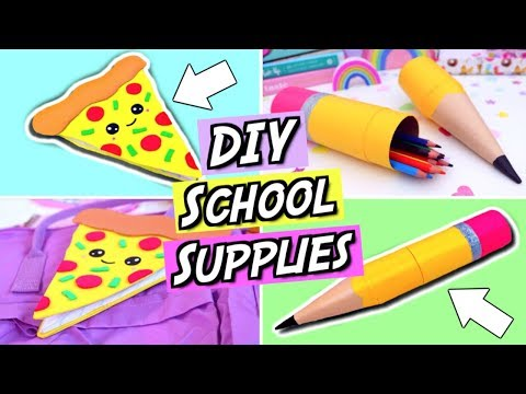 DIY School Supplies! FUN and EASY DIY Back To School Supplies! How To Make Emoji School Supplies!