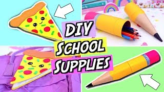 DIY School Supplies! FUN and EASY DIY Back To School Supplies! How To Make Emoji School Supplies!