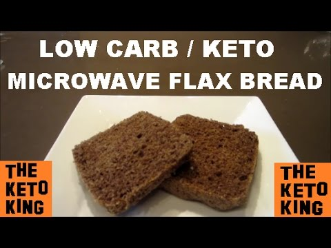 Low Carb Flax Microwave Bread– ONLY 3 MINS!! | Keto Microwave Bread ǀ Low Carb Microwave Bread |