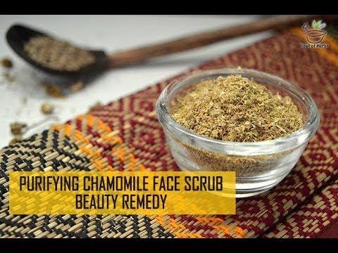 Purifying chamomile face scrub - Skin care recipe