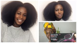 Easy Blowout On Thick Natural Hair | Blowdryer Brush | Revlon Perfectionist 2-in-1 Dryer