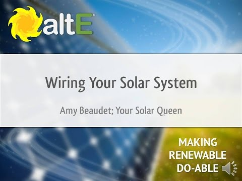 Wiring Your Solar Power System