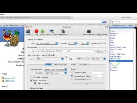 HOW TO: Burn/Copy DVDs On A Mac (Use Handbrake)
