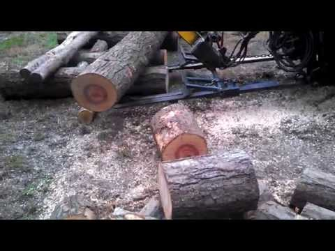 Skidsteer hydraulic Chainsaw (homemade)