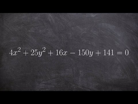 How to determine the focus directrix and center of an ellipse in general form
