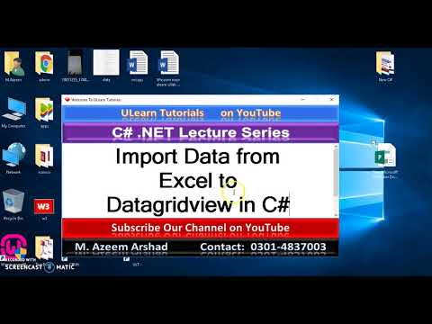 Import Data from Excel to Datagridview in C# in Urdu