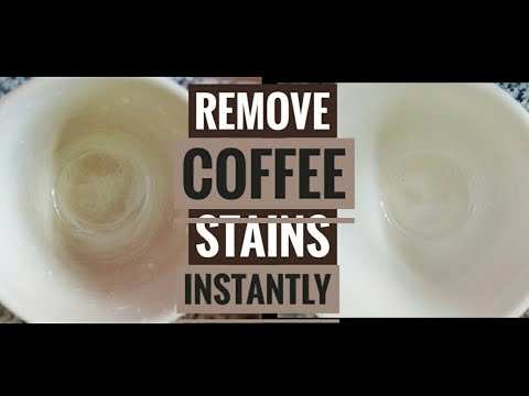 How to remove stains from Coffee Mug instantly, remove stains from ceramic wear easily, kitchen tips