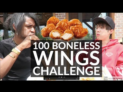 100 BONELESS WINGS CHALLENGE AT HOOTERS! 5000 + CALORIES