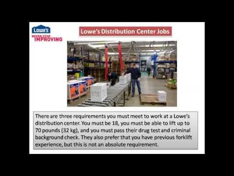 Lowes Distribution Center jobs video