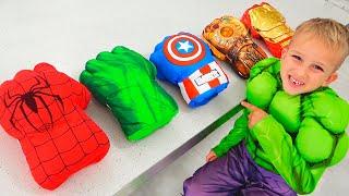 Vlad and Nikita Dress Up Superheroes and Help Mom