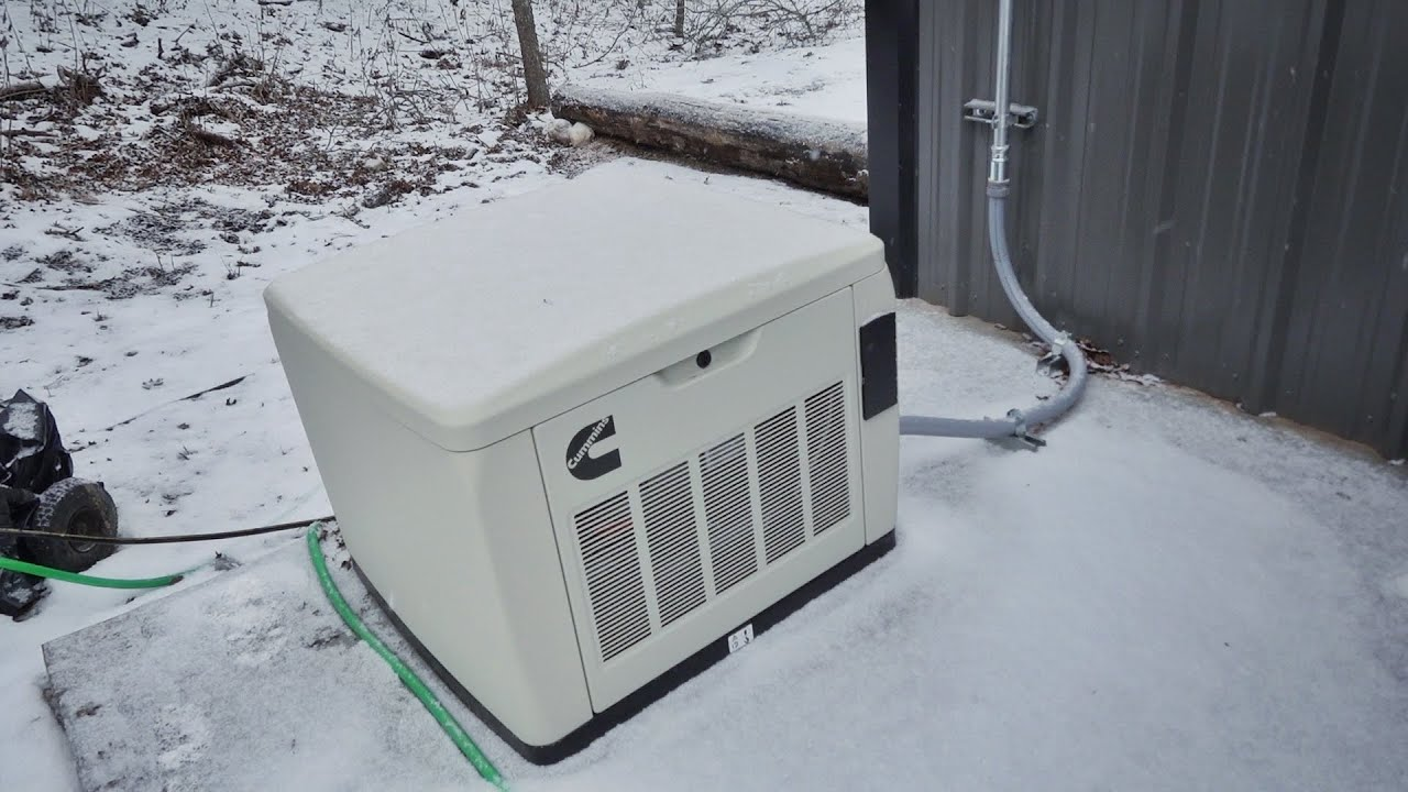 The New Cummins Generator Saved Us During the Snow Storm!!!