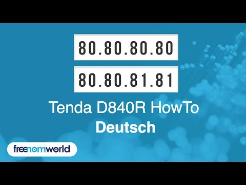 Freenom World Tenda D840R HowTo (German)