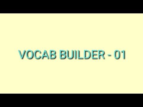 VOCAB BUILDER -01