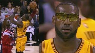 LeBron James Wears Glasses! Wizards Score 71 Points 1st Half!