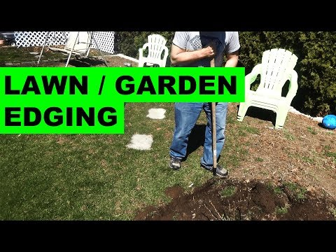 How to edge garden beds around your lawn