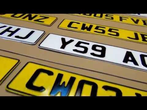 Car Licence UK Number Plates Pressed 3d Aluminium Replacement Metal