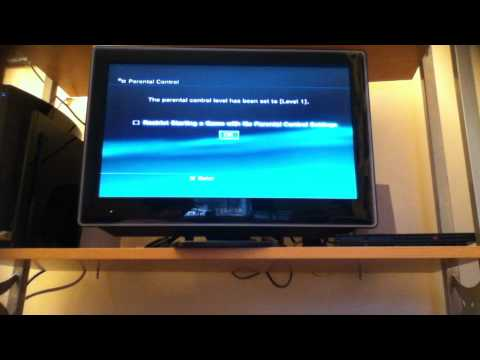 how to password protect your ps3
