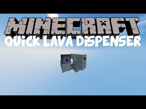 Minecraft Redstone: Quick Lava Dispenser